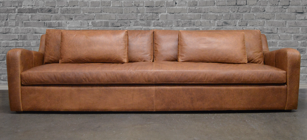 Pigmented Leather Sofa Lovely Humpback Sofa In Brown