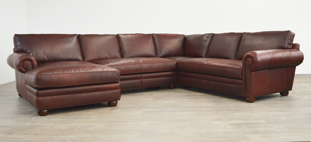 Langston Leather Sectional Sofas